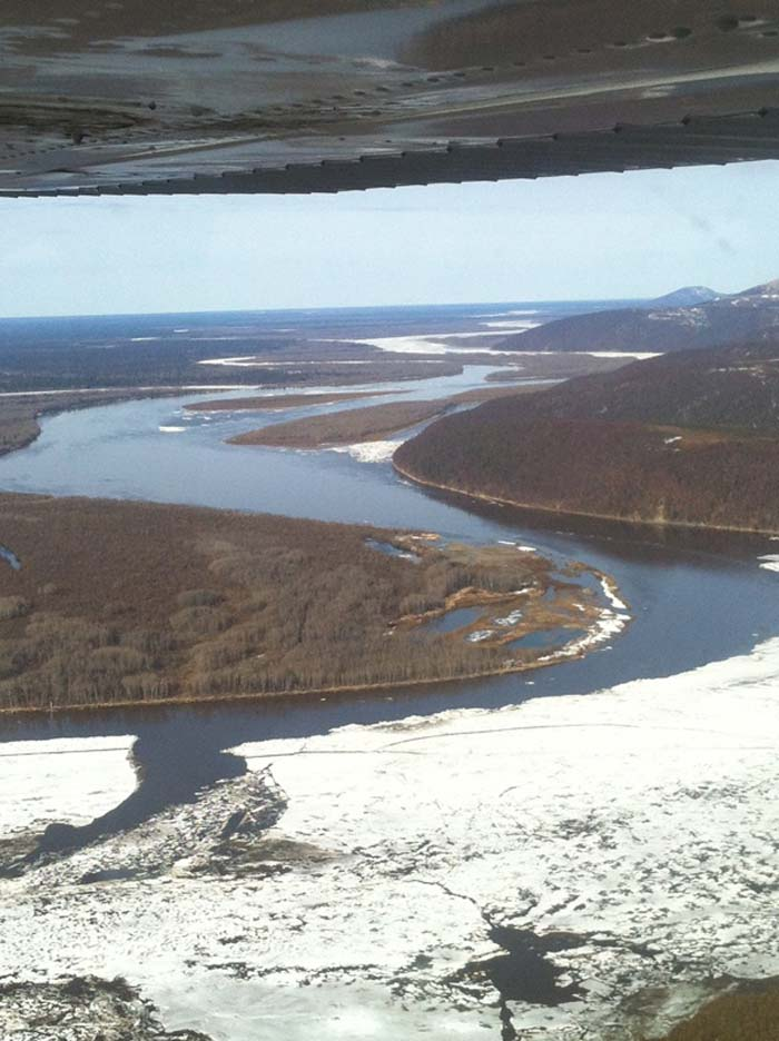 10 or so miles below Aniak Birch Tree Crossing is opening up.  Photo by River Watch.