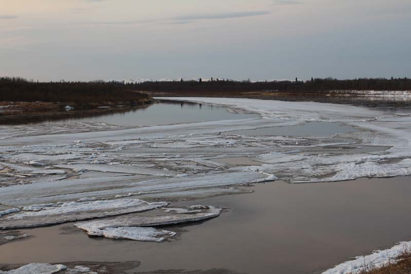 The ice filling the slough came from somewhere...I just don't know where?