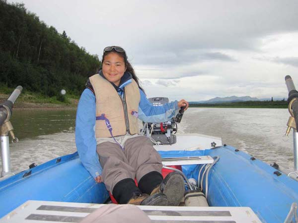 Heading home on the Kuskokwim.  We were up in those mountains in the background.