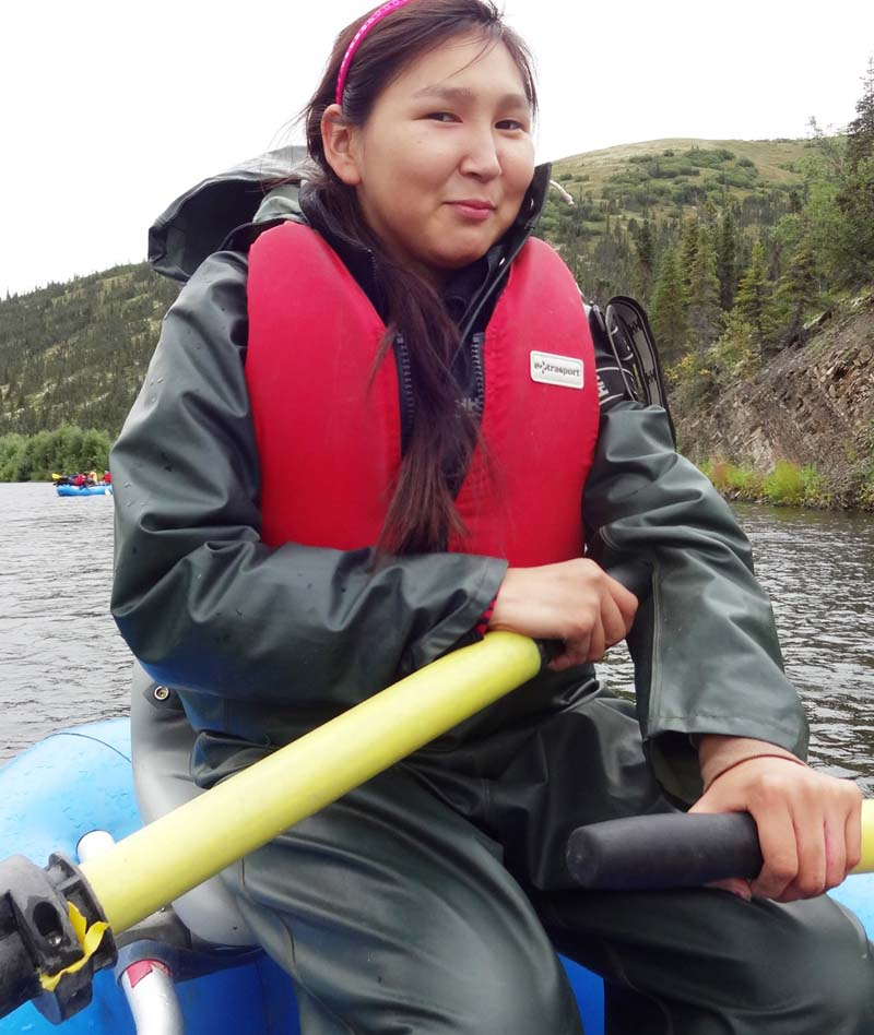 Expedition member Nichole Sakar of Stony River, epitome of self-confidence!