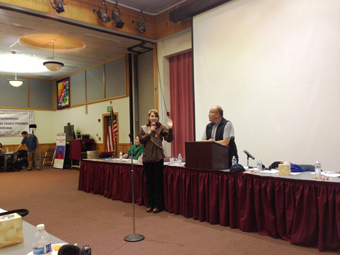 Miss WIEO, Megan Leary addresses the 49th AVCP Convention