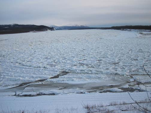 The main Kuskokwim now that the ice has stopped moving.