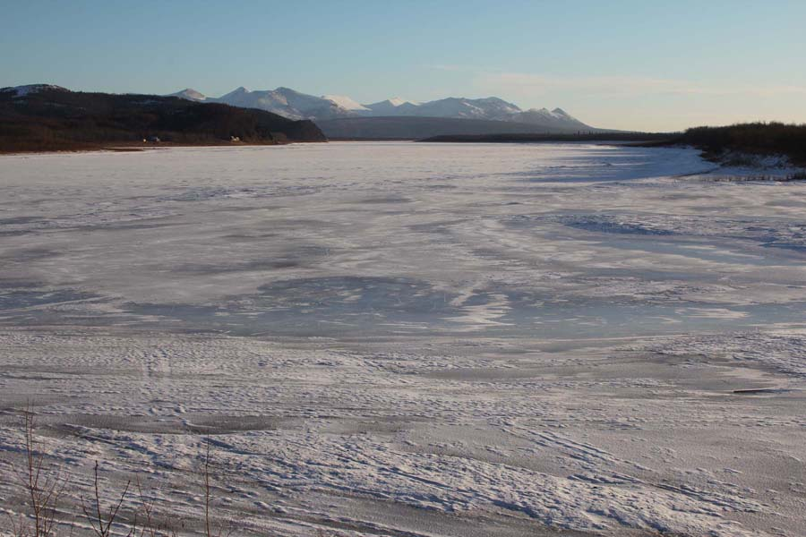 Conditions at Aniak on February 18.