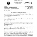 ADF&G News Release 7/28 - Kuskokwim Bay Commercial Fisheries Suspended Due To Low Salmon Abundance
