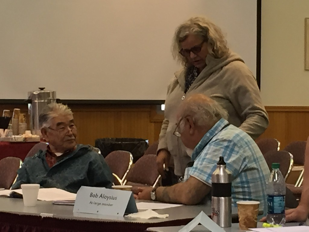 L-R: James Charles, Lisa Feyeriesen, & Bob Aloysius having a discussion at the BOF Meeting
