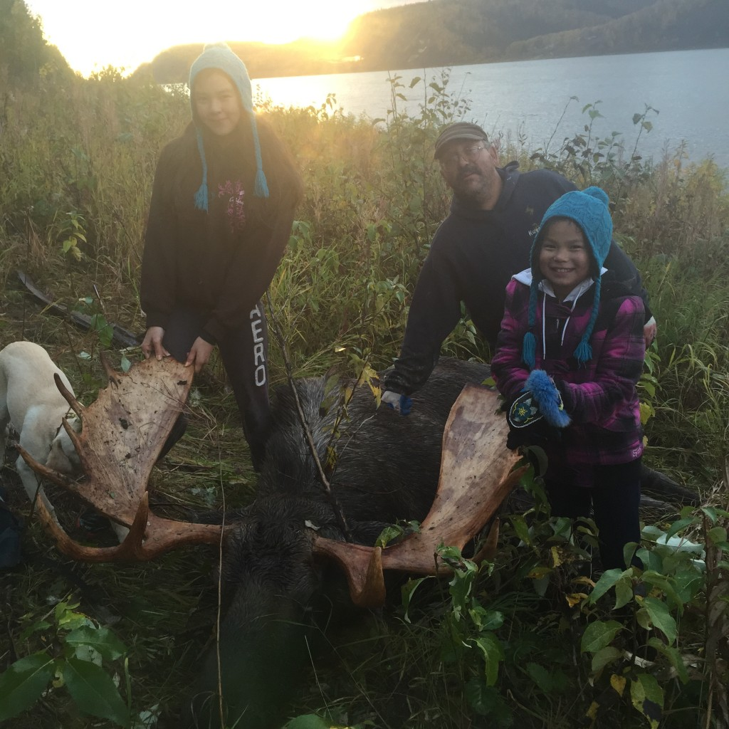Just one of the many examples on social media of successful local families catching their moose: Eric Morgan & his daughters