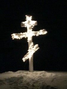 lights in the cemetery
