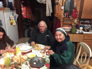 Local Elders John and Seraphina Borowski enjoy Christmas dinner